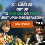 Columbus Casino – 195 free spins + 195% free bonus + €650 gratis