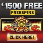 Golden Tiger Casino 100 free spins & 300% up to €1500 bonus