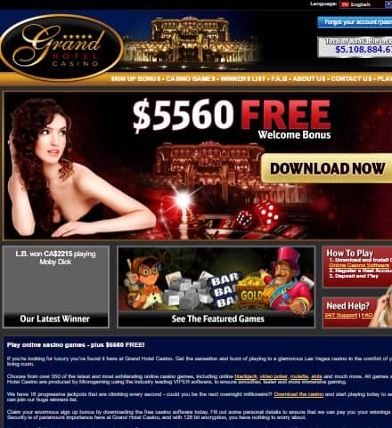Grand Hotel Casino Online & Mobile