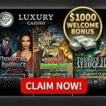 Luxury Casino [review] 25 free spins   325% up to €/$1000 free bonus