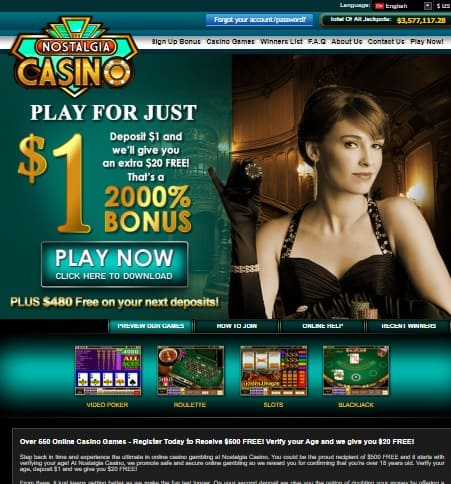 Nostalgia Casino Online Slots & Table Games by Microgaming