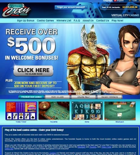 Virtual City Casino free bonus and free games