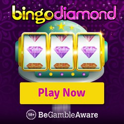 Bingo Diamond Casino £500 free cash bonus + 150 free spins on slots