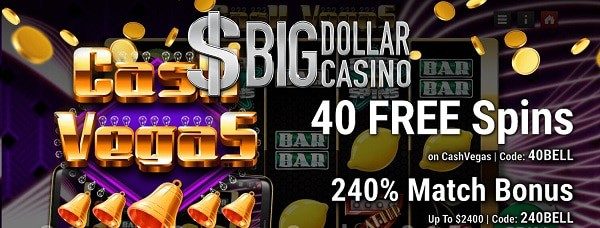 40 Free Spins on Cash Vegas slot