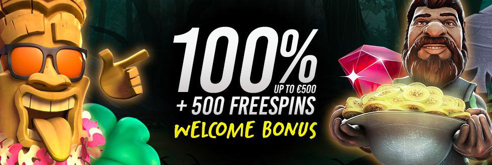 Welcome Bonus: 500 EUR and 500 free spins