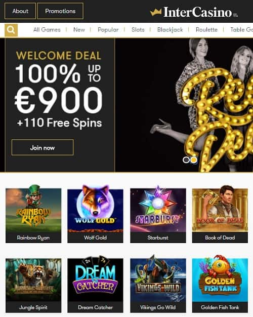 Inter Casino free spins bonus