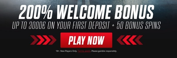 Get 200% bonus and 50 free spins! Play Now!