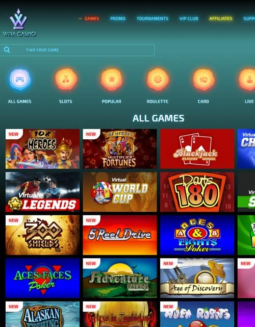 WiraCasino.com free bonus