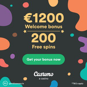 Casumo Casino 200 free spins and and 1200 EUR welcome bonus