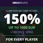 MegaWins Casino (Direx N.V.) 180 free spins and $/€1,000 free bonus