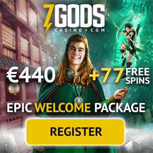 7 Gods Casino welcome bonus: 77 free spins and 270% match bonus
