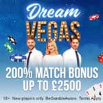 Dream Vegas Casino €7500 bonus   120 gratis spins for new players