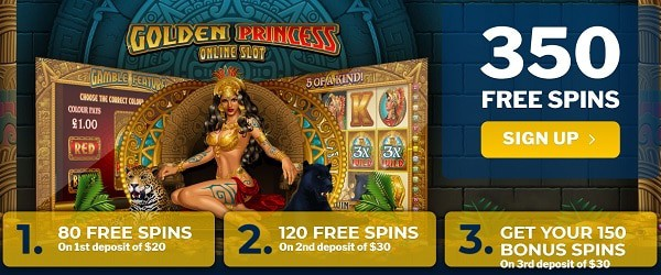 350 Free Spins