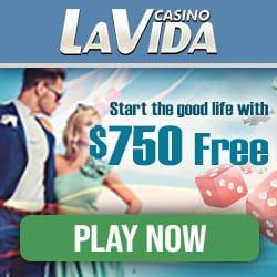 Casino La Vida €/$ 750 gratis (200% bonus) and 100 free spins