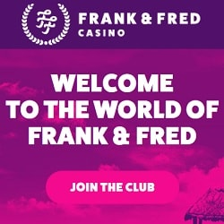 Frank & Fred Casino 100 free spins on registration - no deposit bonus!