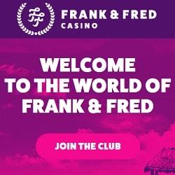 FrankFred.com 100 free spins on registration - no deposit bonus!