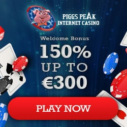 Piggs Peak Casino (review & bonuses): 150% extra and 100 fee spins