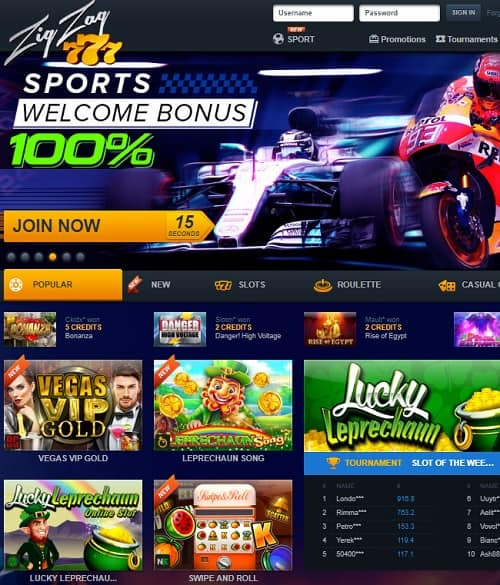 Collect 100% bonus and 20 free spins!
