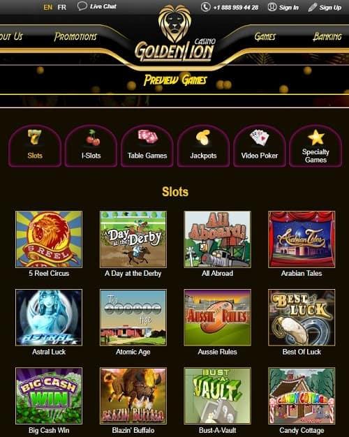 Golden Lion Casino Online - free bonus codes