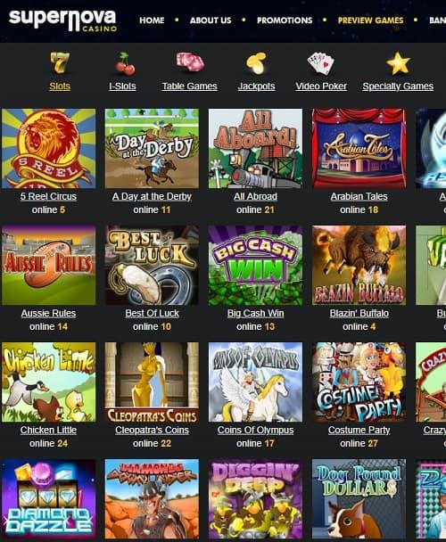 Super Nova Casino free bonus