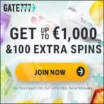 Gate 777 Casino [Gate777.com] 100 gratis spins + 1000€ bonus