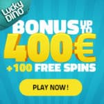 Lucky Dino Casino (register & login) €400 bonus + 107 free spins