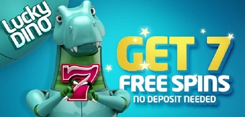 LuckyDino.com 7 free spins no deposit required