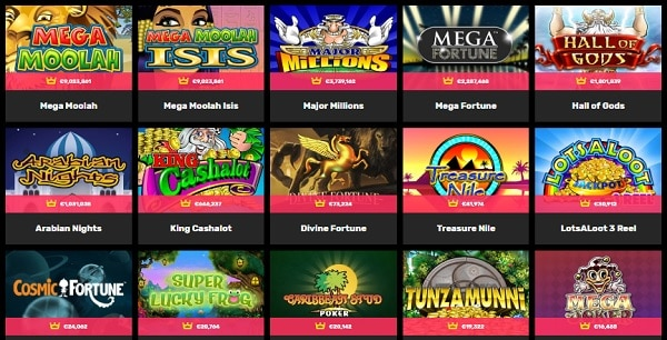 Hyper Casino jackpot games