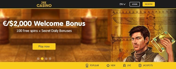24kCasino.com free bonus