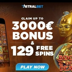 AstralBet Casino €/$3000 welcome bonus and 129 free spins