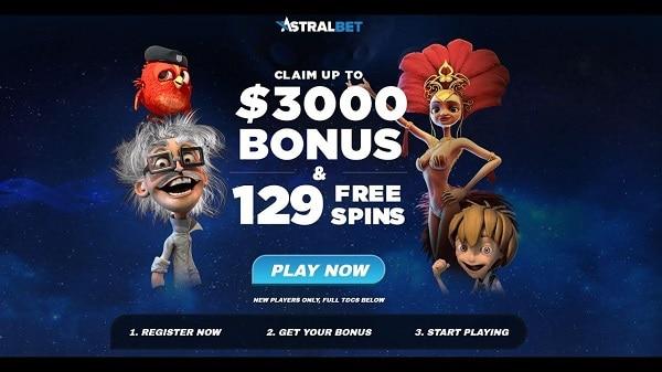 Astralbet Casino welcome bonus