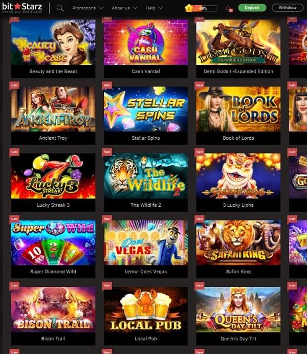 BitStarz Casino Homepage