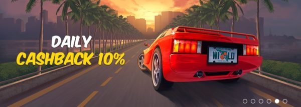 Hotline Casino 10% cash back bonus
