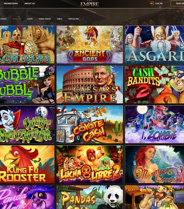 Slots Empire Casino online and mobile