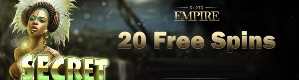 Slots Empire Casino 20 free spins without deposit