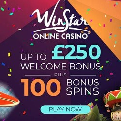 100 free spins and 100% up to $/£/€250 bonus