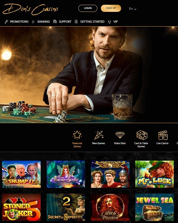 Dons Casino Online and Mobile