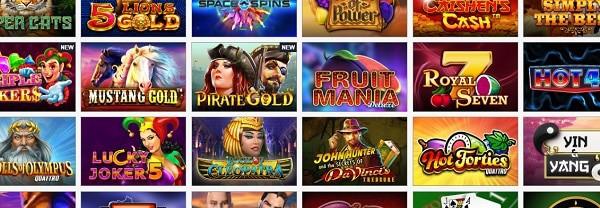 Fruits4Real slots and table games