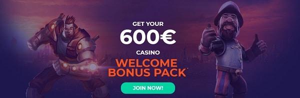 VulkanBet Casino 600 EUR welcome bonus and free spins