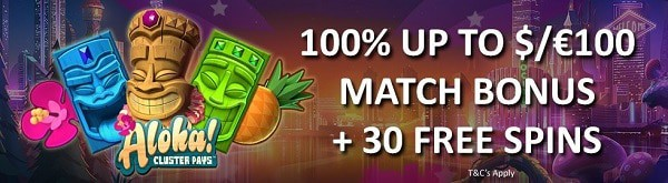 Wunderino Casino 100% bonus and 30 free spins no wagering conditions