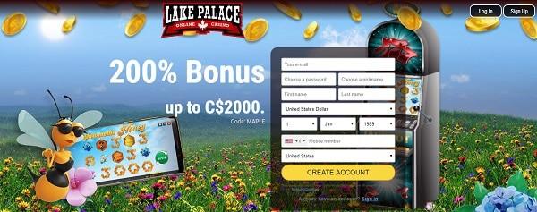 200% bonus on first deposit