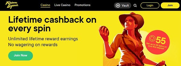55 no wager free spins on first deposit