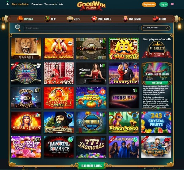 GoodWin CasinoReview & Rating