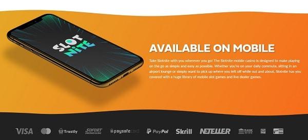 Slotnite Mobile Casino and App