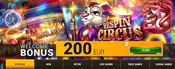200 EUR bonus now