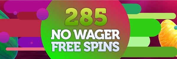 No wager bonus 280 free spins