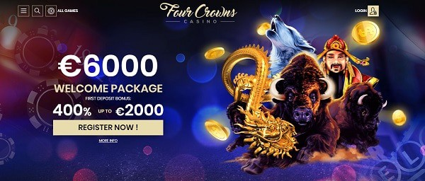 Four Crowns games and bonuses