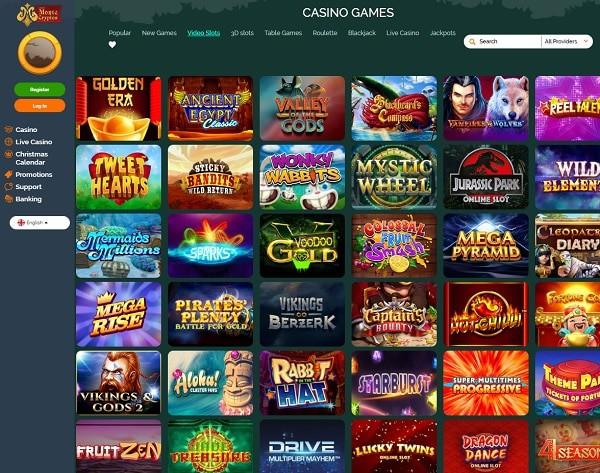 Montecryptos games and live dealer