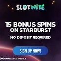 Slotnite Casino 15 free spins no deposit required and €1,000 welcome bonus and 200 gratis spins