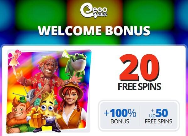 20 gratis spins on registration